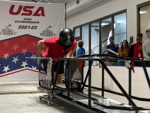 Volker and Meyers Taylor take titles in second day of USA Bobsled Push Championships