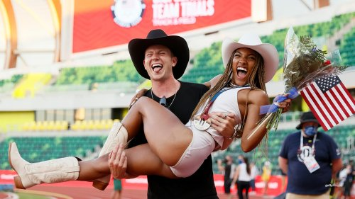 Track Stars Tara Davis, Hunter Woodhall Get Engaged