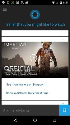 Microsoft Launches First Public Beta Of Cortana For Android