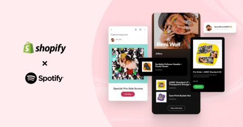 Spotify partners with Shopify to add merch to artists' profiles