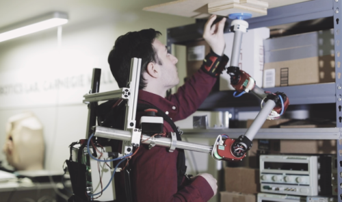 CMU's robotic arm attaches to a backpack to lend a helping hand