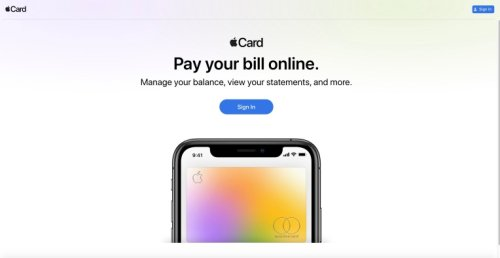 Apple launches an online portal for Apple Card account holders