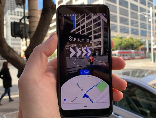 Google Maps gets improved Live View AR directions