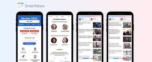 SmartNews' U.S. app unveils new features for the elections, COVID-19 and local weather