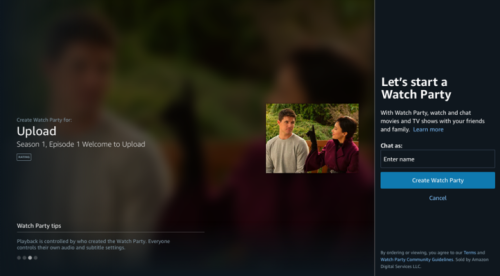 Amazon Prime Video introduces 'Watch Party,' a social co-viewing experience included with Prime