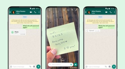 WhatsApp photos and videos can now disappear after a single viewing