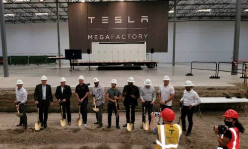 Tesla's battery-manufacturing 'Megafactory' breaks ground in California