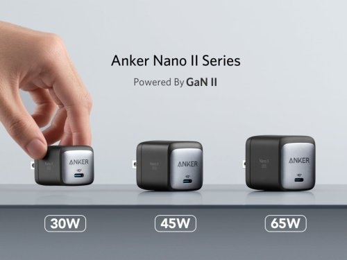 Ankerが小型AC充電器の新世代モデル「Nano II」シリーズ発表、USB-C端子1ポート設計で30W・45W・65Wの3種類