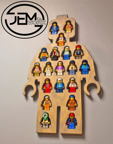 Display Your LEGO Minifigs in a Giant Minifig