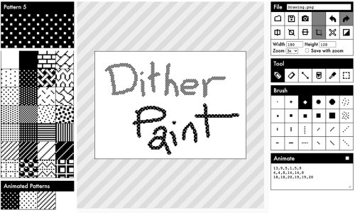 DitherPaint 1-Bit Paint App Takes You Back to the Days of MacPaint
