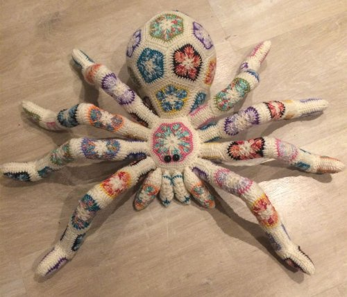 Toss a Giant Crochet Spider on Your Couch