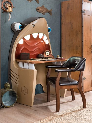 Cartoon Shark Wall Desk: You're Gonna Need A Bigger Boat