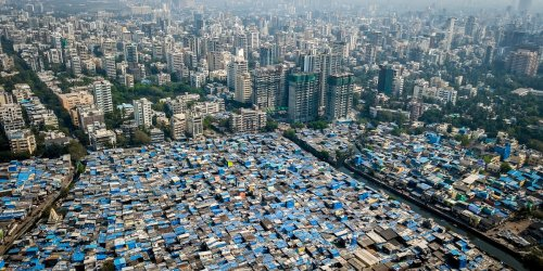 These drone photos show urban inequality around the world