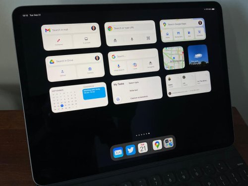 How to use Google widgets for work on an iPad