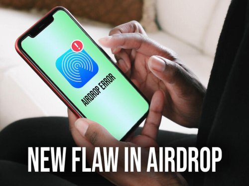 A security flaw in AirDrop found by users