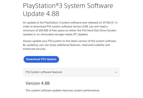 The 14-year-old PlayStation 3 just got updated