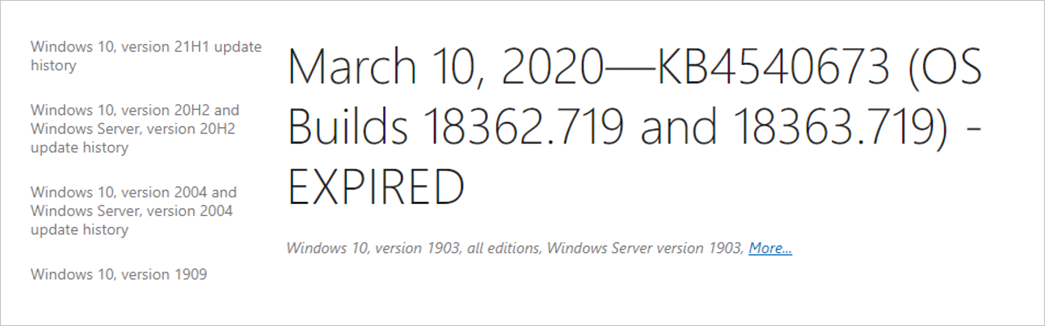 Old Windows updates will now be expired to improve performance and user experience