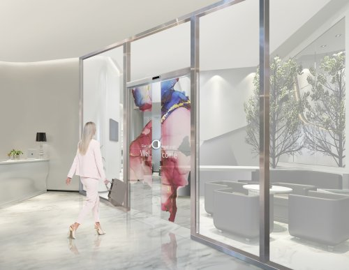 LG is integrating transparent OLED displays into sliding glass doors