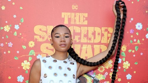 """Storm Reid Rocks Extra-Long Braid at """"The Suicide Squad"""" Premiere – See Photos"""