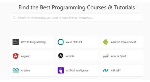 Hackr, un buscador de solo los mejores cursos y tutoriales de programación