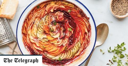 Rainbow vegetable gratin recipe