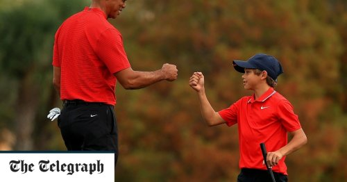 Tiger Woods and son Charlie finish seventh at two-day exhibition event