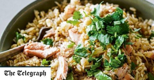 Slow cooker harissa salmon biryani recipe