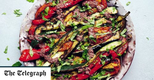 BBQ ratatouille and black olive tapenade recipe