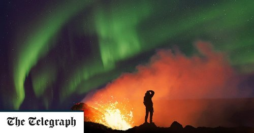 Pictures of the Day: Amazing shot of a volcanic eruption and the Northern Lights in the same image