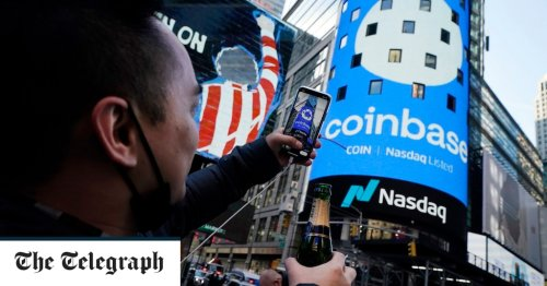 Coinbase valued at $100bn in stock market debut