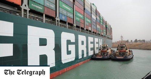 Suez blockage risks food deliveries to Britain