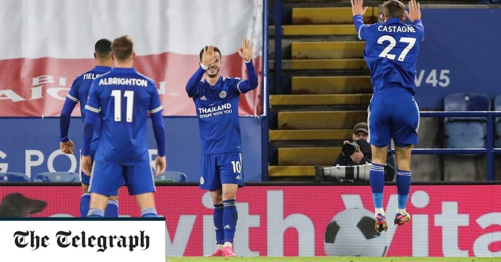 James Maddison orchestrates socially distanced celebration after sending Leicester to victory over Southampton