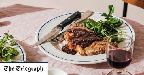 Steak with red wine sauce recipe