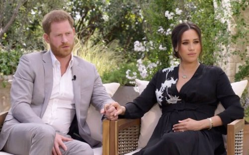 Meghan wears a £3,300 dress and Princess Diana's bracelet for her big television moment with Oprah