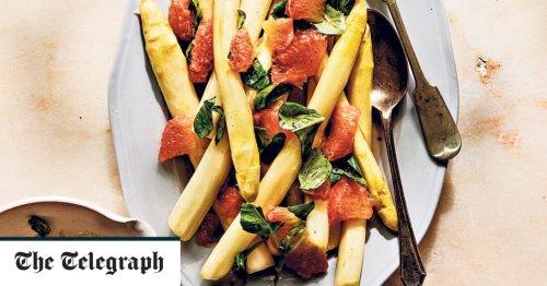 White asparagus and grapefruit recipe