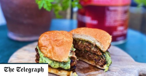 Lamb and quince smash burgers with coriander mayo recipe
