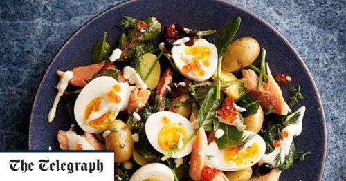 Smoked trout, egg and potato salad recipe