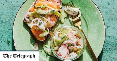 Fresh rhubarb, cucumber and dill pickle recipe