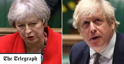 Theresa May accuses Boris Johnson of surrendering Britain's 'global moral leadership'