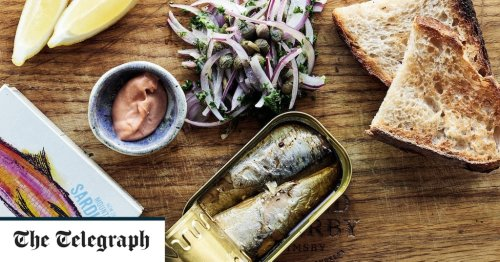 Canned sardines on toast with capers and red onion recipe