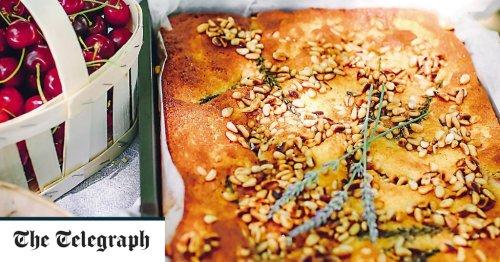 Peach, pine nut and lavender cake recipe