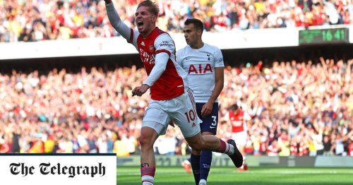 Arsenal claim emphatic north London derby victory after Spurs capitulate in woeful first half