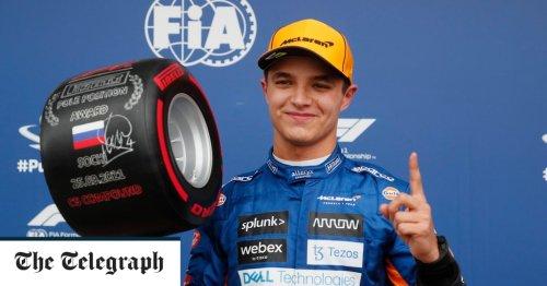 Lando Norris takes dramatic Russian GP pole as Lewis Hamilton crashes twice
