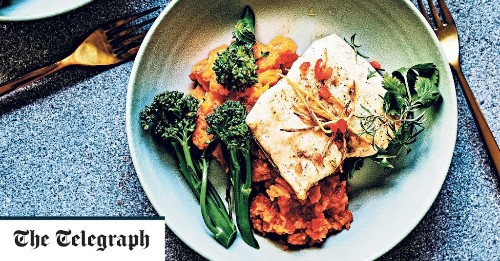 Hake with butternut squash and ginger mash recipe