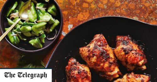 Ginger chicken with smashed Japanese cucumber recipe