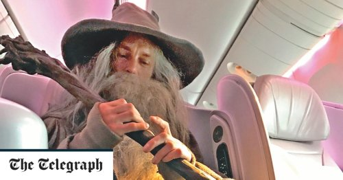 'A challenge from my dead brother - to take a flight dressed as Gandalf from Lord of the Rings'
