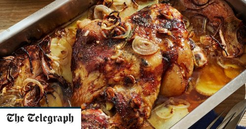 Braised lamb shoulder with onion and potato recipe