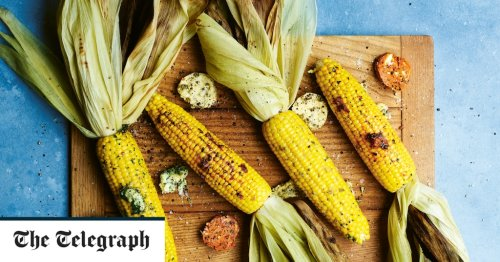 Grilled corn with three flavoured butters recipe