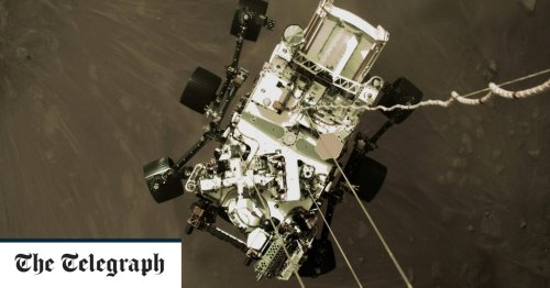 Mars landing: Nasa's Perseverance rover sends back first colour images from Red Planet