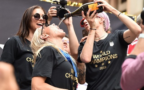 How Megan Rapinoe and USA celebrated Women's World Cup glory - and fired up the equality debate